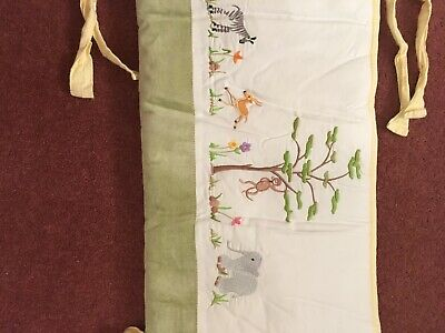 Unisex Safari Cot Bumper, Quilt and matching cushion cover. Long...