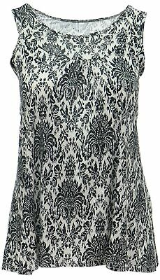 Womens 14-24 Glitzy Silver Polka Long Tops Pointed Hem Party Casual Black White