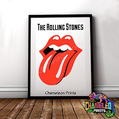 RR13 Vintage Rolling Stones Rock /& Roll Concert Music Advertisement Poster A3//A4