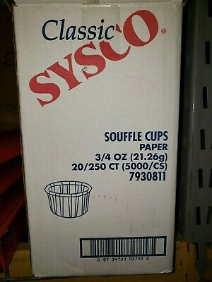 Sysco 3/4 oz Souffle cup