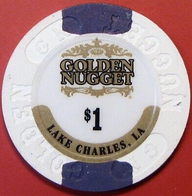 $1 Casino Chip. Golden Nugget, Lake Charles, LA. G76.