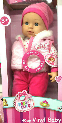 Baby Doll With Try Me Sounds Baby Cute Toy Kids Toy Gift Play Xmas Blue Pink