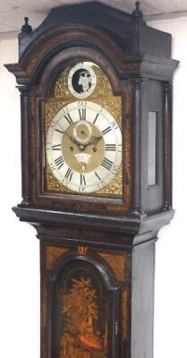 English London Chinoiserie Grandfather Clock Father Of Time Automation Clock 18C