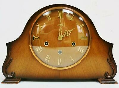 Antique English Smiths Art Deco Westminster Chime Musical 8 Day Mantel Clock