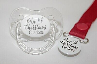 Personalised Dummy, Personalised Dummy Clip, My First Christmas