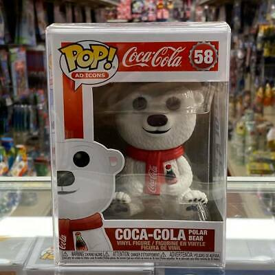Funko Pop Ad Icons Coca Cola Polar Bear #58 Vinyl Figure with Protector case