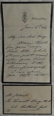 King Edward VII Letter Signed And Envelope Queen Victoria Son King George Father