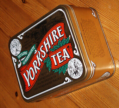 Yorkshire Tea, Taylors of Harrogate, Gold Embossed Tin Tea Caddy Collectable