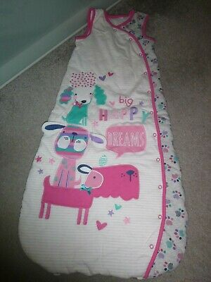 girls applique dogs sleeping bag age 18-24 months