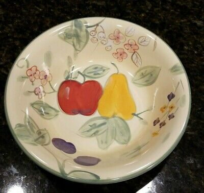 "Gibson Everyday China~8 1/8""~Soup/Cereal Bowl~Hand Painted~Fruit Grove~Euc"
