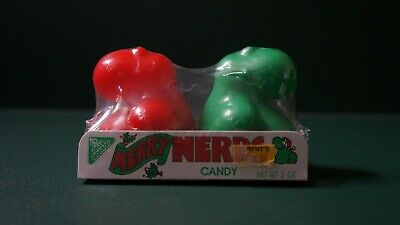 Vintage 1985 Willy Wonka Christmas Nerds Candy dispensers in Package