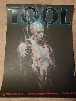 Tool Poster Cleveland Rocket 2019 concert tour limited edition holographic
