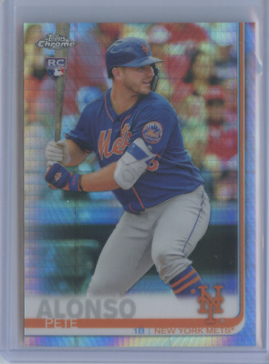 2019 Topps Chrome PETE ALONSO ROOKIE PRISM REFRACTOR #204 RC METS ROY