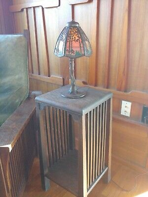 Handel pine tree desk lamp,mission,arts and crafts, lamp.