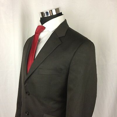 Nautica Mens 40S Sport Coat Blazer Tweed Polyester Brown Two Button GG13