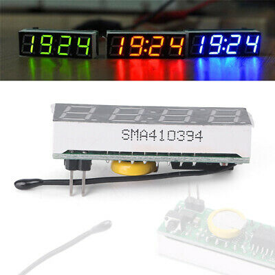 Red 3in1 LED DS3231SN Digital Clock Temperature Voltage Module DIY Electronic