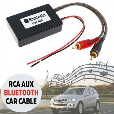 Bluetooth Wireless 2 RCA AUX Adapter Audio Input Wireless Cable for Car/Truck