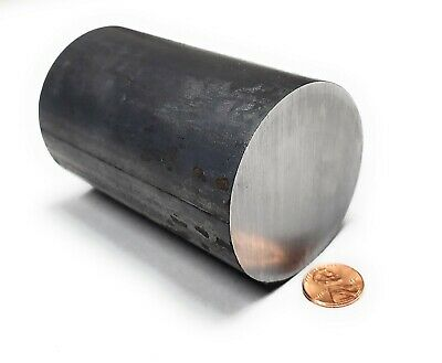 "A36 Hot Rolled Steel Round Rod, 2 1/2"" OD x 4 inches, Lathe projects!"