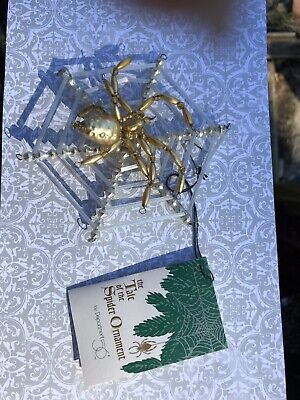 Dept 56 The Tale Of The Spider Czech Glass Christmas Ornament