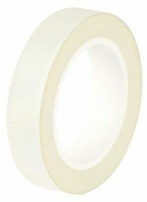 White Electrical Tape 19mm x 33m Glass Cloth 0.18mm +180°C Silicone EN 60454-3-8