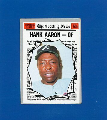 1970 Topps #462 Hank Aaron The Sporting News All Star HOF G-VG