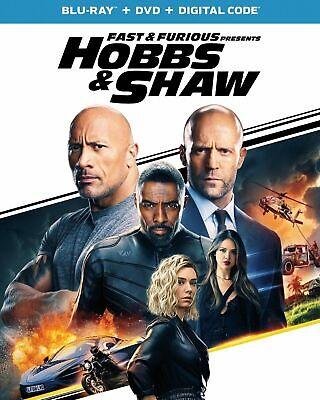 NEW - Fast and Furious presents Hobbs and Shaw(BluRay+Dvd+Digital)w/slipcover &