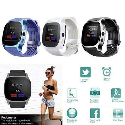 T8 Bluetooth Smart Watch Waterproof SIM FM Pedometer w/ Camera For Android IOS