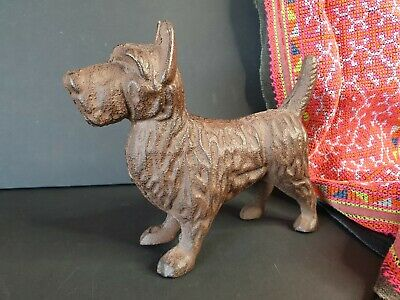 Old Scottie Cast Iron Dog (a) …beautiful collection and display piece Circa 1900