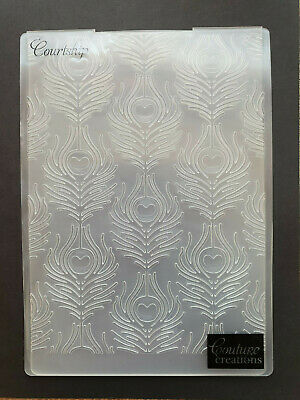 Embossing Folder | Courtship | Peacock Feathers | Couture Creations