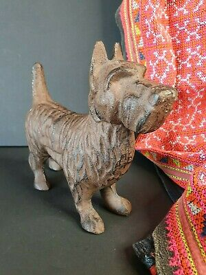 Old Scottie Cast Iron Dog (b) …beautiful collection and display piece Circa 1900
