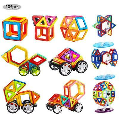 105pcs Magnetic Building Blocks Toy Set 3D Tiles DIY Toys Gift For Kids Children