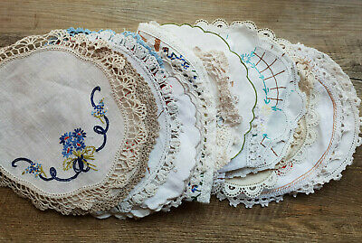 Doilies | Hand Embroidered and Crocheted | BUNDLE 21 Doilies