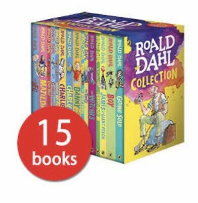 ROALD DAHL Collection Phizz Whizzing 15 Classic Story Books Box Set NEW