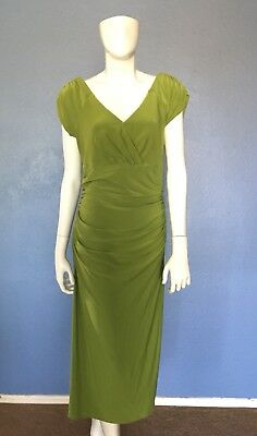 Women's Dress By Marc Bouwer Rouched Size S Below The knee Form Fitting