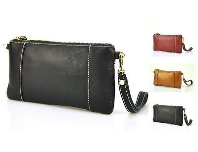 Women Genuine Leather Pouch Clutch Wrist Fashion Mobile Cellphone Bag Purse Lady