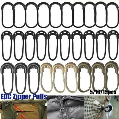 Zipper Pull Puller End Fit Rope Tag Fixer Zip Cord Tab Replacement Clip Buckle-