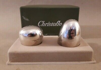 Christofle Silverplated Salt And Pepper Set BOXED