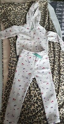 Marks And Spencer Floral Tracksuit 2-3 Years