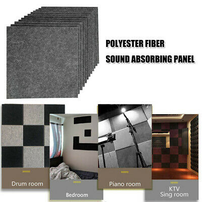 6/12Pack Acoustic Panels Tiles Studio Sound Proofing Insulation Closed Cell Foam