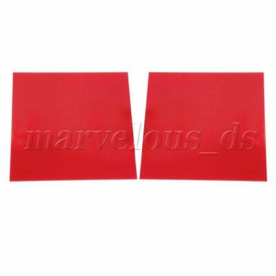 2Piece 2.3mm Thick Red Transparent Acrylic Board Organic Glass Sheet 15x15cm