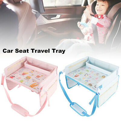Kids Car Seat Tray Activity Safety Travel Drawing Board Table Snack Waterproof