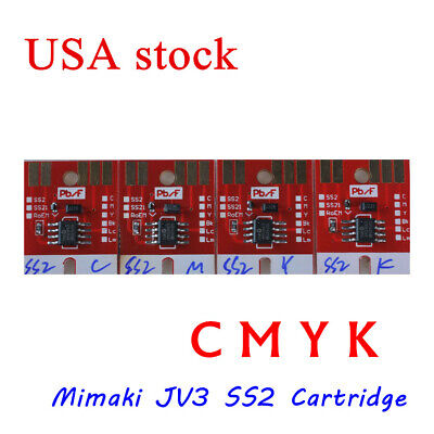 US Stock-OEM Chip Permanent for Mimaki JV3 SS2 Cartridge 4 colors CMYK