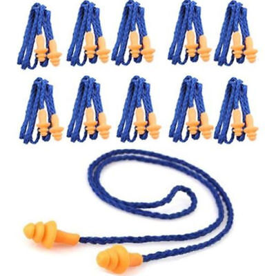 10 Pcs Hearing Protection Tree Earplugs Corded Safety Soft Silicone Ear Plugs