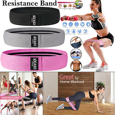 Heavy Duty Resistance Bands Fabric Booty Bands Glute Hip Circle Yoga Non Slip UK