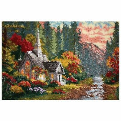 Mountain Forest House Latch Hook Rug Kit, Brand New