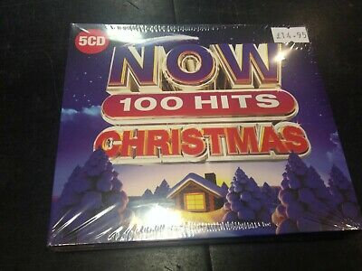 Now 100 Hits Christmas 5-Cd New Mint Sealed 2019