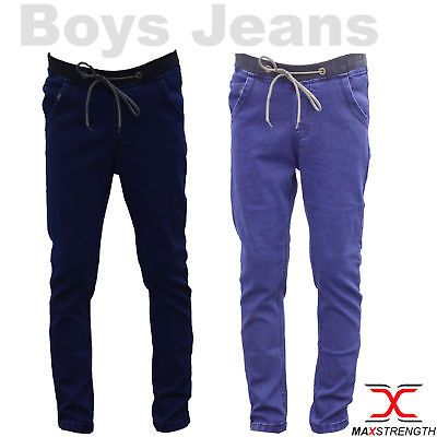 Mens Jeans Regular Fit Fashion Denim Cotton Boys Pant Child Trouser 24-28 Inches