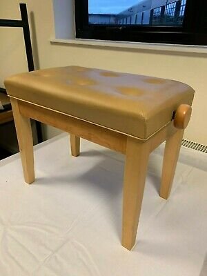 Hadley HA-200 Height Adjustable Piano Stool in Light Wood - Brand New, Boxed
