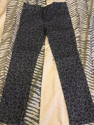 Girls Wayne Jnr by Wayne Cooper Grey Jeans Animal Print Size 6 Exc Condition