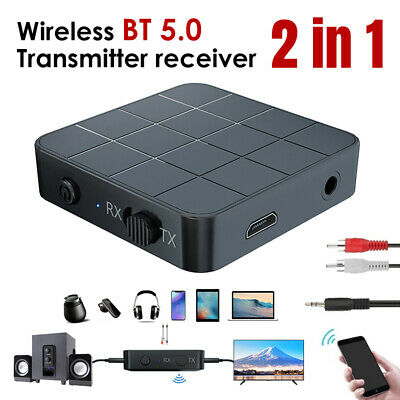 2 in1 Bluetooth 5.0 Wireless Audio Transmitter Receiver 3.5MM RCA Music Adapter